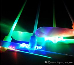 Wholesale Glow Lights Helicopter - Flying Glow Dragonfly Flash Bamboo Dragonfly LED Flying Helicopter Toy Flying Lights Toys Luminous Dragonfly Funny Toys Colorful Kids Gifts