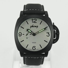 Wholesale Choice Silicone Watch - simple and easy design fashion alloy shell and leather strap Mechanical watches , the best choice of man