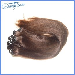 """Wholesale Long Brazilian Weave Cheap - cheap brazilian human hair products silk straight styling mixed length 10bundles 500g lot natural brown color 8""""~24"""" last long time 7a grade"""