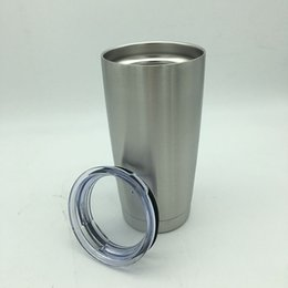 Wholesale Double Wall Tumblers - Factory Price 304 Stainless Steel 20oz Cups Cooler Tumbler Cup Vehicle Beer Mug Double Wall Bilayer Vacuum Insulated DHL free