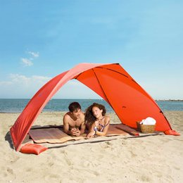 Wholesale Single Person Beach Tent - Portable Beach Tent Sun Shade Canopy Fishing Shelter Tents Awning Sunshade Strandtent Summer Beach Tent UV Protection