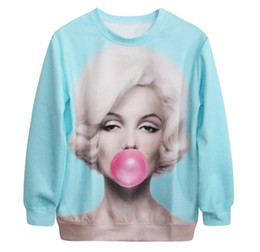 Wholesale Marilyn Monroe Hoodie - Hot sale new Marilyn Monroe digital printing Women's Hoodies & Sweatshirts