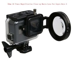 Wholesale Macro Close Up Filter Kit - 58MM 16 Times Magnification Close-up Macro Lens+adapter for Gopro Hero5