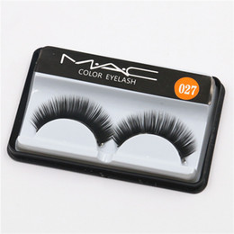 Wholesale Eyelash Extensions C Curl - Brand False Eyelashes Handmade Natural Long Curl Thick Soft Fake Eye Lash Extensions Flair Black Color Eyelashes Makeup Terrier Lashes #027