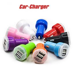 Wholesale Micro Usb Au Plug - Travel Adapter Car Charger 2 Ports Colorful Micro USB Car Plug USB Adapter for iPhone 7 7 Plus