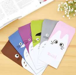 Wholesale Totoro Card - Wholesale-5 pcs pack Novelty My Neighbor Totoro Envelope Message Card Letter Stationary Storage Paper Gift