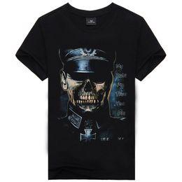 Wholesale German T Shirts - The Explosion of The German SS T-shirt Brand Men's Skeleton Fashion Men's Short Sleeved T-shirt Printing Fashion Men's Clothings
