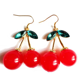 Wholesale Indian New Sexy - Free Shipping Cherry Earring, New Fashion Wholesale Earring, Red Sexy Women Earring, Wholesale Free Shipping Earring