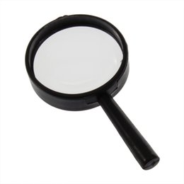 Wholesale 5x Hand Held Magnifying Glass - Wholesale-New1pcs Reading 5X Magnifier Hand Held Magnifying 25mm Glass handheld Hot Selling