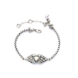 Wholesale Antique Bridesmaid Bracelets - Stargaze Petite Wedding Bridal Bracelet Famous Brand Jewelry Antique Silver Plating Crystal Bracelets Bridesmaid Gifts B1458
