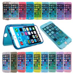 Wholesale Iphone Flip Up - Ultra Thin 360 Degree Full Body Protective Transparent Clear Soft Gel TPU Case Wrap Up Flip Cover for Iphone 6 6s plus 7 7plus Samsung S6 S7