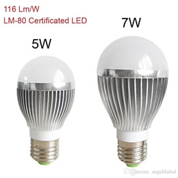 mr16 24v geführte birnen Rabatt Super helle E27 Birnen LED beleuchten Aluminiumkörper LED-Lampen 116LM / W 5W 7W CRI 80 warme reine weiße weiche Kugel LED-Lichter