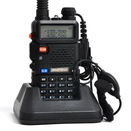 Argentina Precio más bajo Walkie Talkie BAOFENG BF-UV5R 5W 128CH UHF + VHF 136-174 MHz + 400-480 MHz DTMF Radio portátil de dos vías Radio portátil Suministro