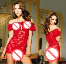 Envío gratis de gran tamaño lencería sexy Europa y América rosa collar de encaje transparente camisones sexy pijamas uniformes desde fabricantes