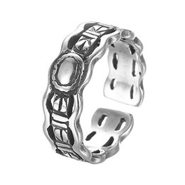 Wholesale Chinese Finger Rings - 5pcs lot Men Finger Ring Vintage 925 Sterling Silver Jewelry Wholesale Wedding Band Steampunk Accessories Cheap Chinese Goods