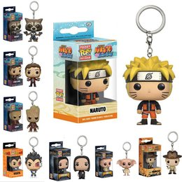 Wholesale Harry Good - Funko POP Marvel Super Hero Action Figure keychain Deadpool Harry Potter Goku Spiderman Joker Game of Thrones Figurines Toy Keychains OTH030