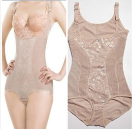 Wholesale Sexy Teddies Bodies - Wholesale-Sexy Female shapers Bodysuits underwear Women Intimates Teddies Seamless Siamese Body sculpting Slimming underwear Size M-XXL
