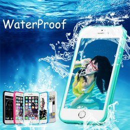 Wholesale Plastic Id Cover - Luxury For iphone X 8 Silicone Soft TPU Waterproof Case Touch ID Ultra Thin Shockproof Hybrid Rubber Cover for iphone 7 plus For Samsung S7