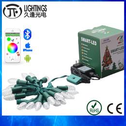 Wholesale C9 Christmas Lights Wholesale - Wholesale- 10 sets LED Christmas lights string outdoor Addressable WS2811 DC12V pixel Module 25nodes strand C7 C9 via Bluetooth APP IP68