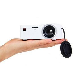 Proiettori telefonici online-Mini proiettore UC UC18 LCD Supporto HDMI USB AV TF Card Home Cinema Proiettore portatile per Smart Phone TV