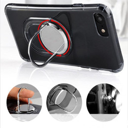 Wholesale Air Vents Covers - 360 Rotating Magnets Bracket Cases Ultra Thin Armor Soft Tpu Clear Cover With Kickstand Car Air Vent Holder For iPhone 6 6S 7 Plus