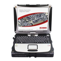 Wholesale Laptops Rotating Screens - Wholesale-High Quality Toughbook CF19 Car Diagnostic laptop CF19 with touch & rotate screen For C3 C4 I-COM GDS VDM Autek