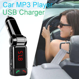 Wholesale Display Port Lead - BC06 Bluetooth Car Kit car mp3 mp4 Player FM Transmitter Handsfree kit BC06 with LED Display Dual port USB Charger,free shipping