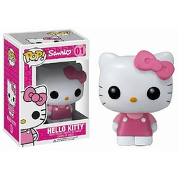 Wholesale Finish Cat - Hello Kitty Action Figure New Pink POP Figurine Vinyl Cute KT Cat Funko Toy Gift New in Box