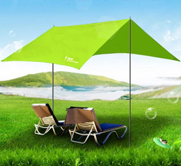 Wholesale Alloy Construction - High quality 300cm*300cm iron poles UV beach tent sun shelter camping tent awning tarp free shipping
