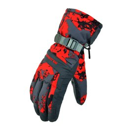 Wholesale Men s Waterproof Full Finger Winter Snow Ski Snowboarding Gloves with Warm Cotton Lining and Reinforced Palm Patch