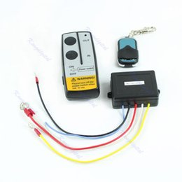 Wholesale Control Jeep - Wholesale-Wireless Remote Control Kit 24V Handset For Truck Jeep ATV SUV Winch Warn Ramsey