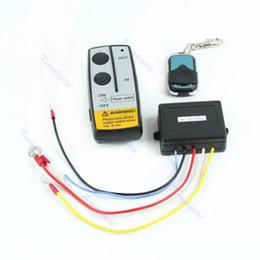 Wholesale Warn Winch Wireless Remote - Wholesale-Wireless Remote Control Kit 24V Handset For Truck Jeep ATV SUV Winch Warn Ramsey