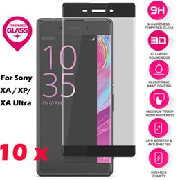 Wholesale Xperia Z Protective Cover - 3D Curved Tempered Glass Screen Protector 0.3mm 9H Real Premium Anti Shatter Full Covered LCD Protective Film for Sony Xperia XP XA Ultra XC