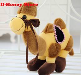 Wholesale Valentine Toys For Children - Candice guo! Cute desert king Dromedary Bactrian camel plsuh toy Valentine birthday gift 25cm 1pc animal toys for children