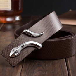 2019 уникальные ремни Wholesale- 2015 fashion  leather belt for mens genuine leather men's belt casual all-match unique design snake leather belts for women дешево уникальные ремни