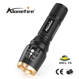Wholesale 3x Cree Flashlight - AloneFire H240 CREE XML T6 LED 2000lumen cree adjustable led Torches Zoomable LED Flashlight for 3x AAA or 18650 Battery