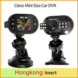 Wholesale Chinese Led Tvs - car dvd Car Camera C600 Mini Size Car DVR Full HD 1920*1080P 12 IR LED Car Vehicle CAM Video DashCam Recorder Russian