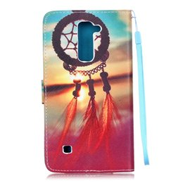 Wholesale Tower Case Stand - For LG K4 K8 LS775 Stylus 2 Huawei P9 LITE Flower Wallet Leather Case Skull Rope Pouch TPU Card Stand Eiffel Tower Don't Touch My Phone Skin