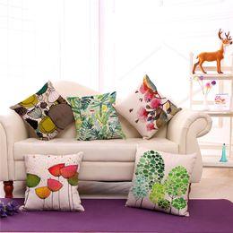 2019 uma almofada sofás Flor e Pássaro abstrato One Side Printing Home Decor Sofá Assento de Carro Capa de Almofada Decorativa Fronha 240501 uma almofada sofás barato