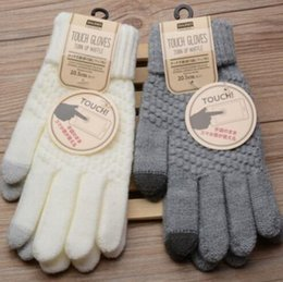 Wholesale Magic Wool - New Solid Magic Gloves Women Girl Female Stretch Knit Gloves Mittens Hot Winter Warm Accessories Wool Guantes