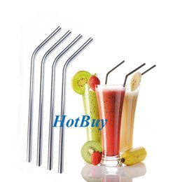 "Wholesale Wholesale Party Straws - 200X Stainless Steel Straw Steel Drinking Straws 8.5"" Reusable ECO Metal Drinking Straw Bar Drinks Party Stag #3984"