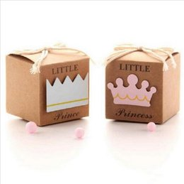 Wholesale Baby Shower Favors Gifts - 100pcs Free Shipping Paper Pillow Red and Cream Wedding Decoration Favors and Gifts Baby Shower Candy Boxes Gift Packaging