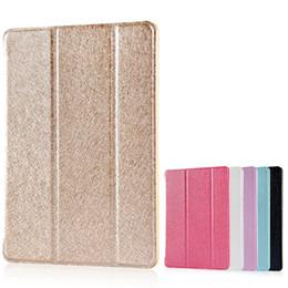 Wholesale Pro Back - Case for iPad mini 1 2 3 4 , Tri-fold smart cover Color Ultra Slim PU Leather Transparent Back Case for iPad Air 1 2
