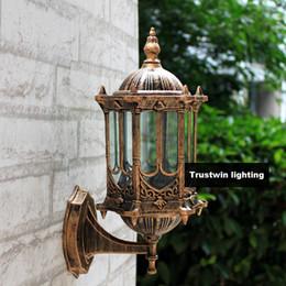 Gros-Bronze antique laiton IP65 luxaire européenne européenne extérieur applique vintage classique imperméable à l'eau applique murale extérieure ? partir de fabricateur