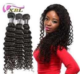 Wholesale Xbl Hair - XBL Virgin Curly Human Hair 3 Bundles Brazilian Human Hair Weave Top Sale Human Hair Extensions