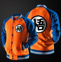 Wholesale Varsity Letter Jackets - New Japanese Anime Dragon Ball Goku Varsity Jacket Autumn Casual Sweatshirt Hoodie Coat Jacket Brand Baseball Jacket