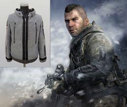 Wholesale Fancy Hoodies - Task Force Hoodie Jacket Modern War Ghost Hoodie Jacket Cosplay Costume TF 141 High Quality Gift