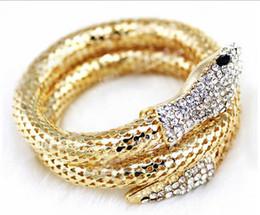 2019 braccialetti a forma di oro All'ingrosso-moda vintage discoteca lega braccialetti braccialetti punk diamante cz multi-strand serpente bracciali per le donne e gli uomini gioielli fb38