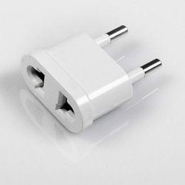 Wholesale Usa Europe Converter - New US (USA) to EU (Europe) Travel Power Plug Adapter for USA converter White