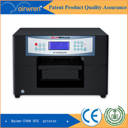 Wholesale Label Printer Machine - 2016 hot sale CE approved Haiwn T400 t shirt printing machine with 2 white clothes label printing machine